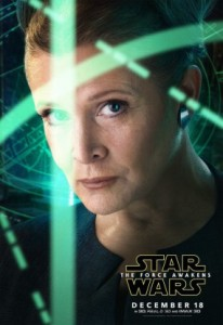 'Star Wars: The Force Awakens', Leia Character Poster